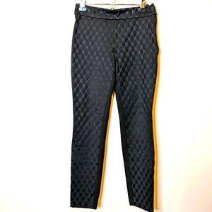 Diane von furstenberg black textured Rihanna pants